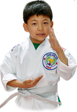 white kid in karate